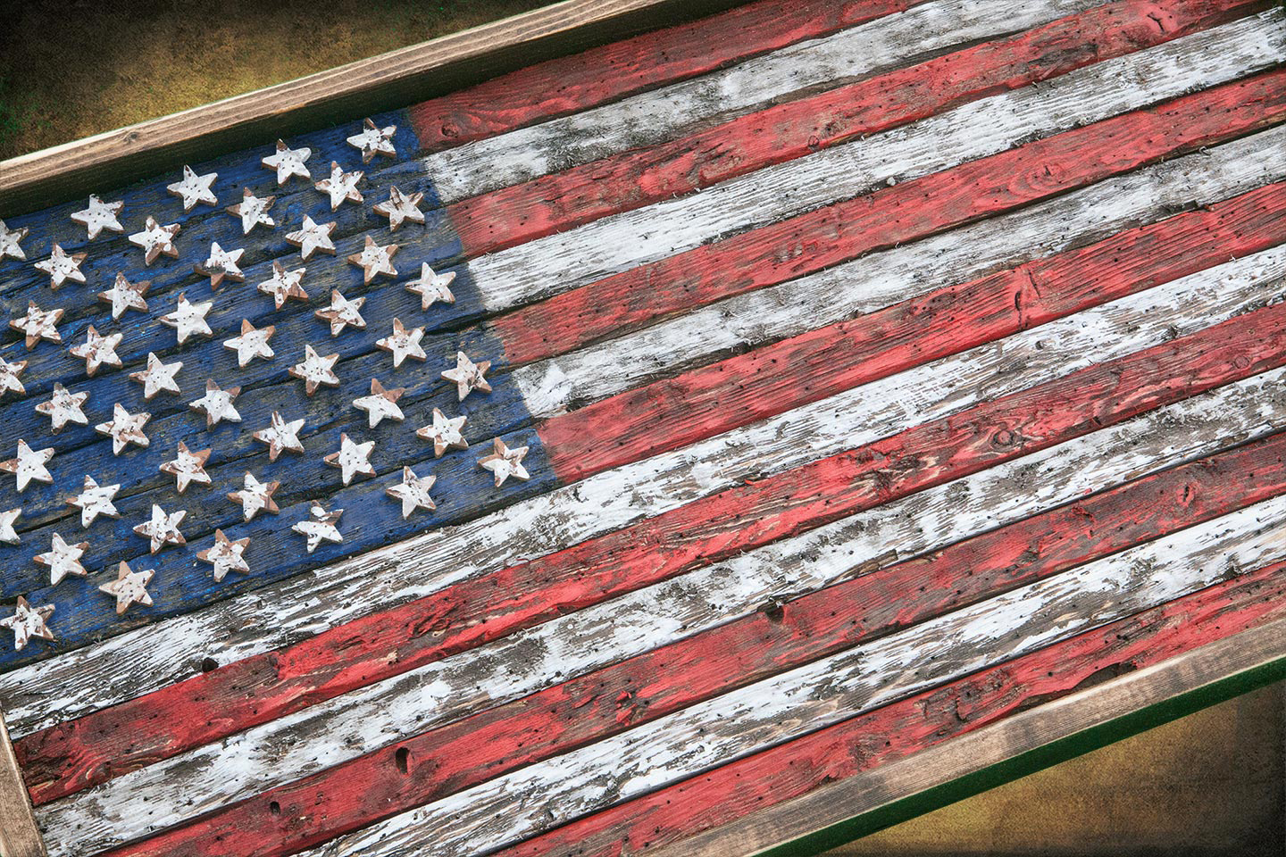American Flag Weathered Wood One Of A Kind 3d Wooden