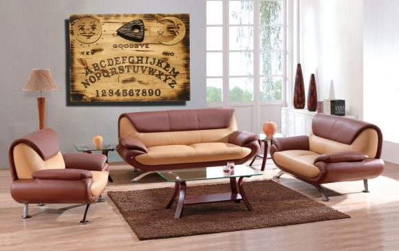 3D sculptured wall hanging wooden Ouija board Art., rustic, sepia, vintage, sculpture, home decor, brown, distressed wood, occult, Halloween