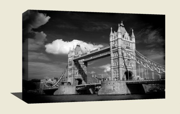 A stunning  museum quality canvas gallery wrap, London, Tower Bridge, England, Bridges, photography, canvas print, home decor, black  white