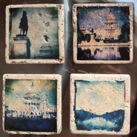 A stunning set of four 4x4 Glass Coasters or wall art, taken in Washington DC, that are sure to be a conversation piece on any coffee table.