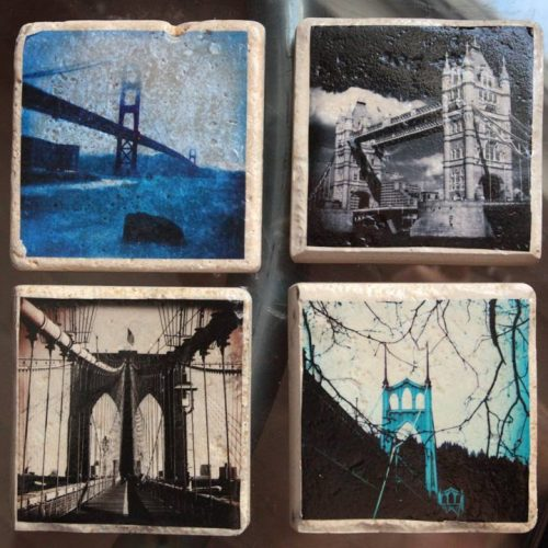 A stunning set of four 4x4 Glass Coasters or wall art  that are sure to be a conversation piece on any coffee table.