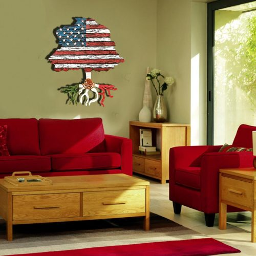 American flag tree with root flag of Mexico or country of your choice, USA, Heritage, Patriotic, United States, white blue, Latino, Mexican