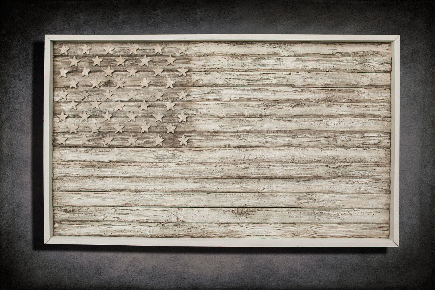 American Flag Weathered Wood One Of A Kind Wooden Vintage