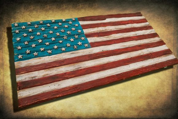 American Flag, Weathered Wood, One of a kind, 3D, Wooden, vintage, art, distressed, red, blue, white patriotic, wall art, USA, home decor