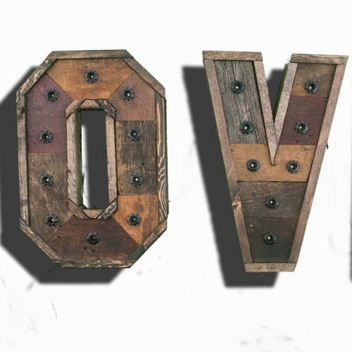 Any 4 Reclaimed wood marquee letters w/ Lights, Shabby Chic, Salvaged Barn Wood Letter, Wedding, Nursery Letter, restaurant, home decor