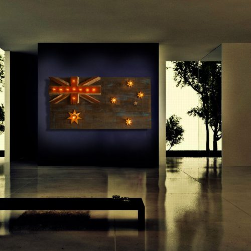 Australian Flag Weathered  distressed Barn Wood flag Edison limited Edition, vintage, distressed, weathered, recycled, Australia, UK, Sydney