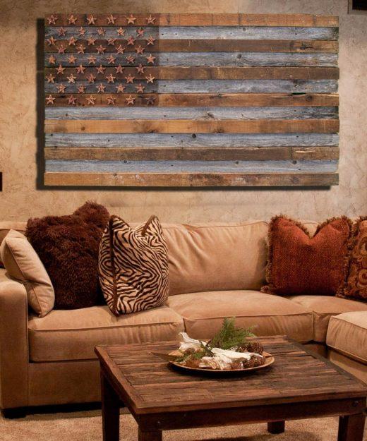 ... Barnwood American Flag 100 Year Old Wood One  ...