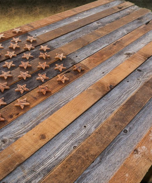 Barnwood American Flag 100 Year Old Wood One