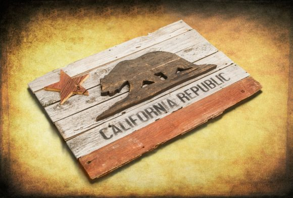 California Republic flag,  Barn Wood Edition,  Wooden, vintage, art, distressed, weathered, recycled, California flag art. Repurposed