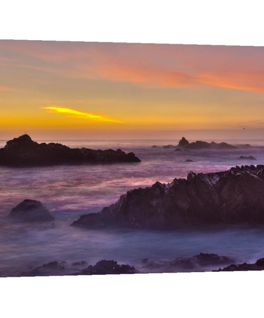 Canvas wrap Landscape photography, seascape ocean, Beach photograph Haystack Rock moody sea Califronia Oregon coast Pacific Northwest travel