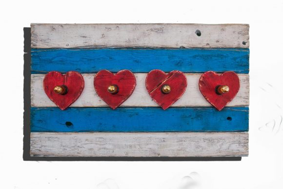 Chicago Flag One of a kind Weathered Wood, Antique Edison light bulbs, Wedding, hearts,recycled, reclaimed, wooden, rustic, Love