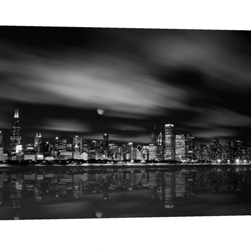 Chicago Skyline photograph, museum quality canvas photo, John Hancock, Chicago, Art, Canvas Print, home decor, Chicago Skyline, Willis Tower