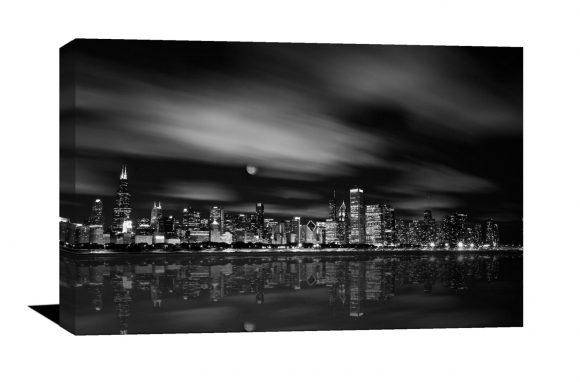 Chicago Skyline photograph, museum quality canvas photo, John Hancock, Chicago, Art, Canvas Print, home decor, Chicago Skyline, Willis Tower