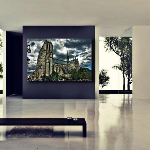 Gallery wrap, Gargoyle, Notre Dame Cathedral, Paris decor, Paris France, eiffel Tower, Europe, Black and White photogrphy, HDR photograph