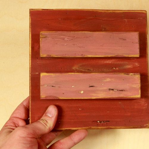 Gay Marriage Equality Wood Wall Hanging Art 7.5x7.5