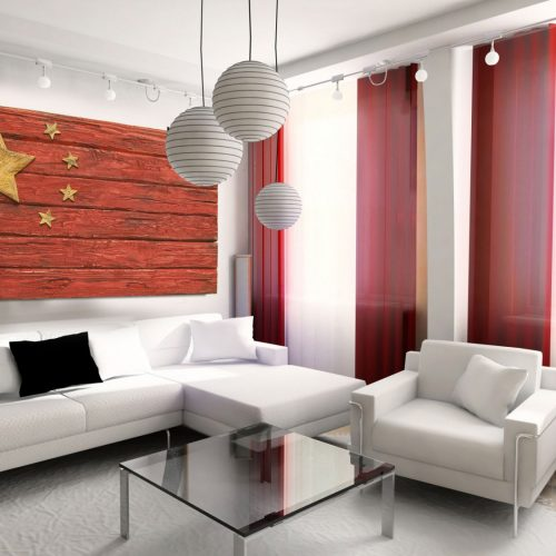 Handmade, Distressed Wooden Chinese Flag, vintage, art, distressed, weathered, recycled, china flag art, home decor, Wall art, recycled