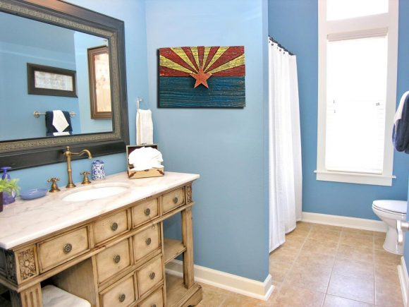 Handmade, reclaimed Wooden Arizona Flag, vintage, art, distressed, weathered, recycled, Arizona flag art, home decor, Wall art, recycled