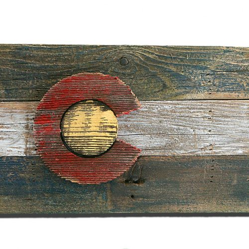 Handmade, reclaimed Wooden Colorado Flag, vintage, art, distressed, weathered, recycled, Colorado flag art, home decor, Wall art, recycled