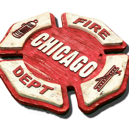 Personalized Maltese Fire Dept Sign Handmade reclaimed wood sign, vintage, art, recycled, Chicago Fire Department, Wall art, Man Cave, Red