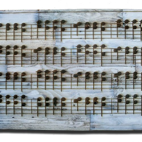 Reclaimed wood custom made engraved sheet music wall art of ANY SONG you choose