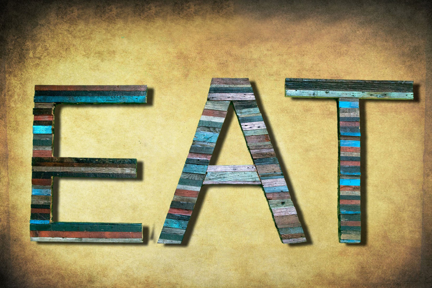 Reclaimed Wood Marquee Letters Shabby Chic Salvaged Barn