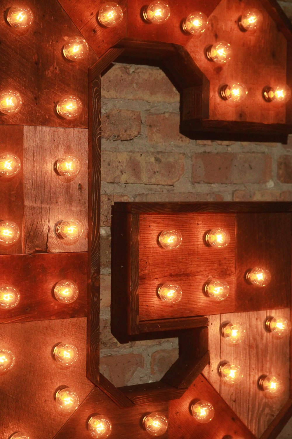 Reclaimed Wood Marquee Letters W Lights Shabby Chic