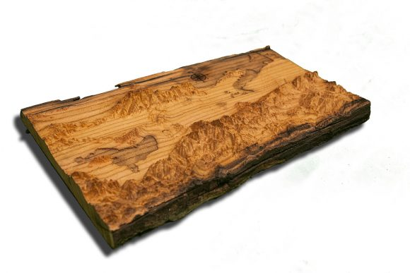 Salt Lake City Utah Area Topographical Map from a natural live edge wood slab,  California, vintage, rustic fine art one of a kind piece.