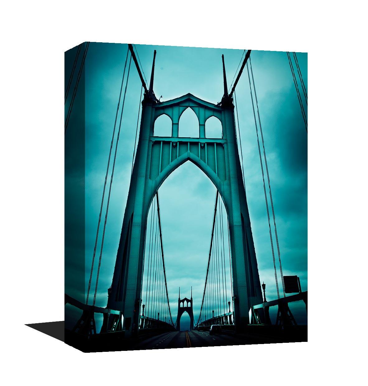 Stunning Museum Quality Canvas Print, Saint Johns Bridge