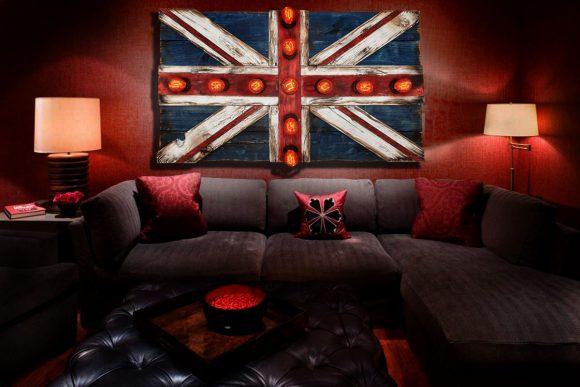 Union Jack Flag Weathered  distressed Wood flag Edison limited Edition, vintage, distressed, weathered, recycled, England, UK, London
