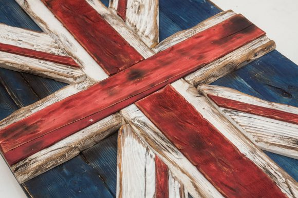 Union Jack Flag Weathered  distressed Wood flag  limited Edition, vintage, distressed, weathered, recycled, England, UK, London
