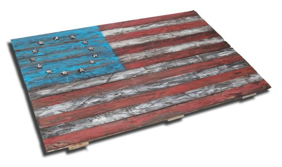 Weathered Wood One of a kind 3D original 13 colony American flag, Wooden, vintage, art, distressed, patriotic, United States, thirteen, red