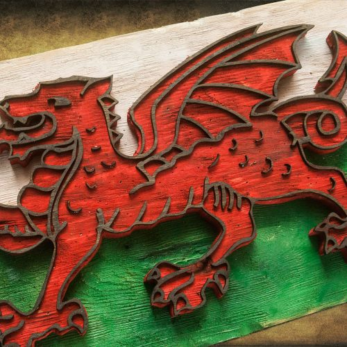 Weathered Wood One of a kind 3D Welsh flag, Wooden, vintage, art, UK, England, distressed, home decor, patriotic, Scotland,  red, Wales