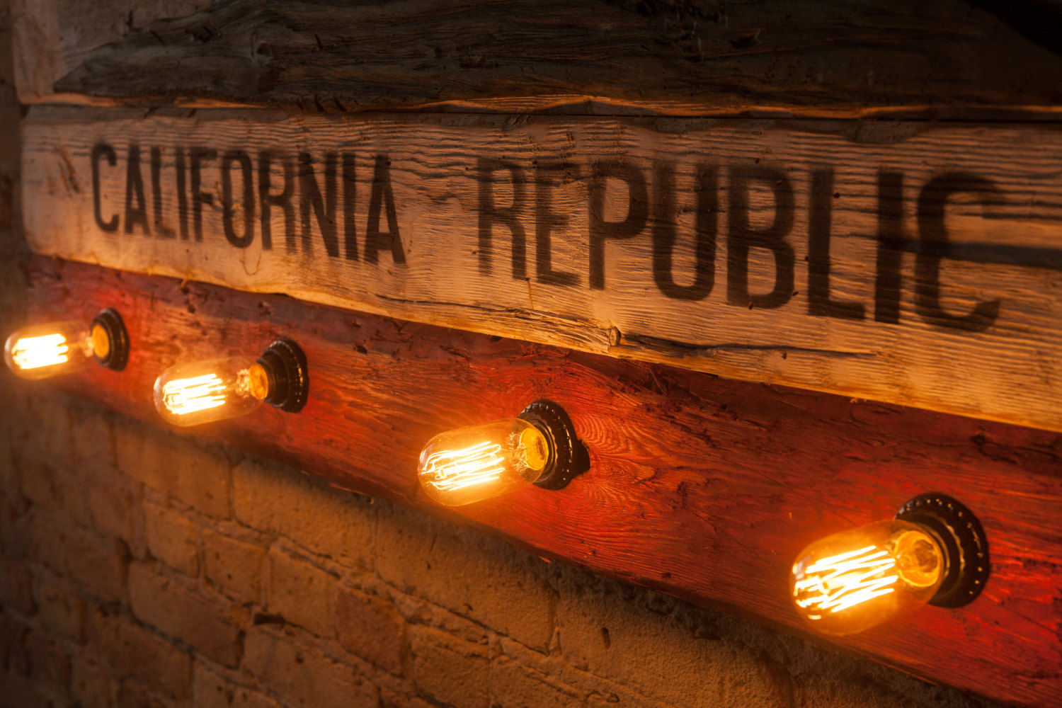 Weathered Wood One Of A Kind California Republic Flag