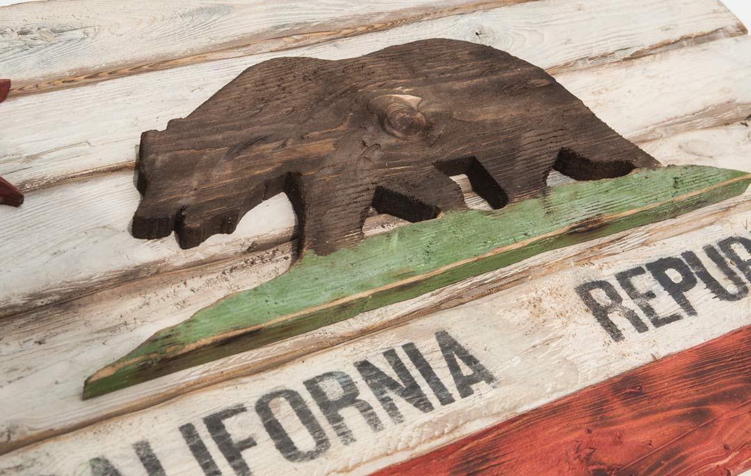 Weathered Wood One Of A Kind California Republic Flag Wooden Vintage Art Distressed Weathered Recycled California Flag Art Wedding Chris Knight Creations