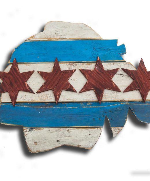 Weathered Wood One of a kind Chicago Blackhawks Commemorative Flag, vintage, Bulls, art, distressed, weathered, recycled, Chicago flag art