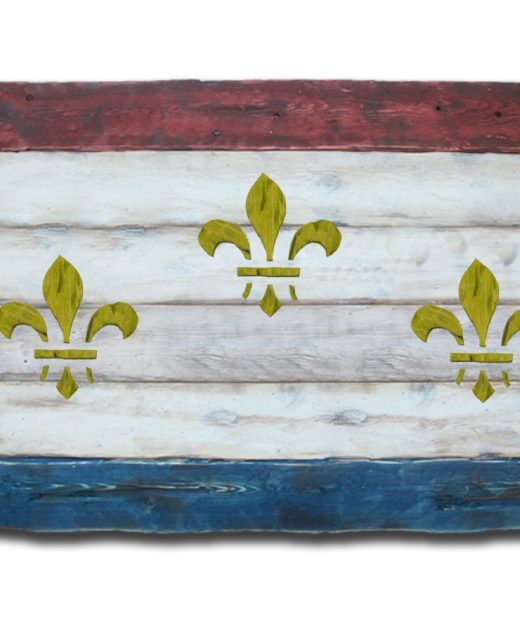 Weathered Wood One of a kind New Orleans flag, Wooden, vintage, art, distressed, weathered, recycled, New Orleans flag art. Louisiana, white