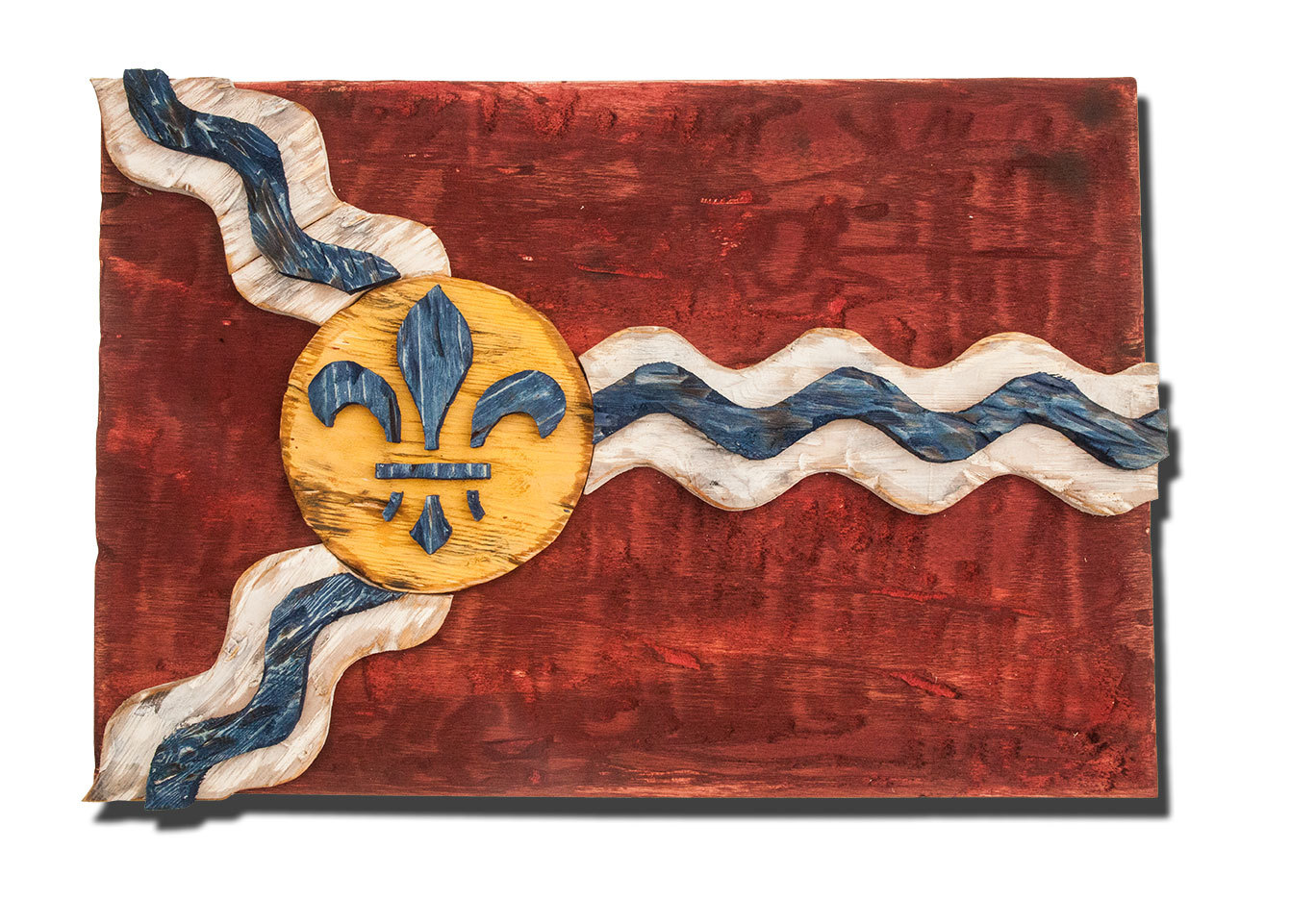 home decor stores in st louis mo weathered wood one of a louis flag wooden 13363