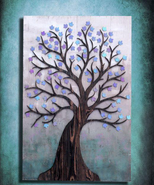 "Wedding registry guest book alternative or wall art, ""The Tree of New Lives"" Keepsake, Personalize, Vintage, Custom, Green, Blue, wall art"