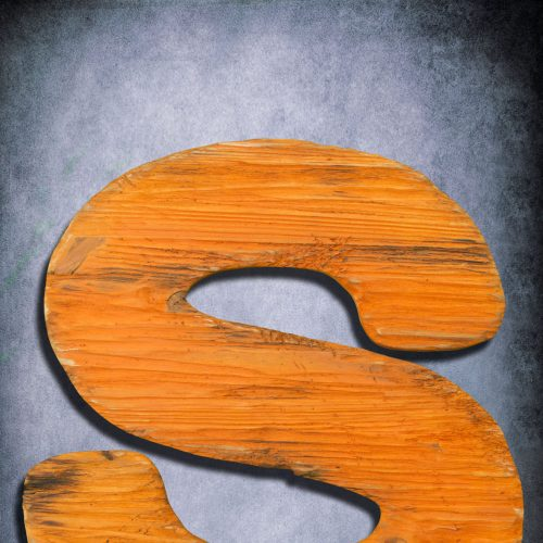 Wooden Letter, Large  Distressed painted, Shabby Chic, Salvaged Barn Wood Letter, Orange, Nursery Alphabet Letter, restaurant, home decor