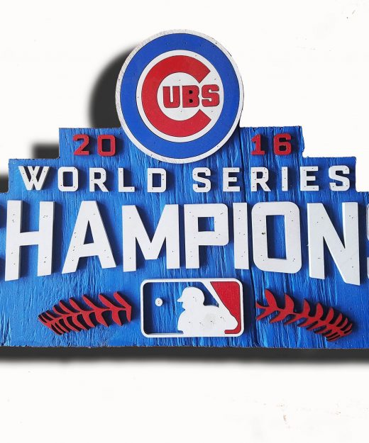 World Series Champions Chicago Cubs Handmade distressed wood sign, vintage, art, weathered, recycled, Baseball, home decor, Man Cave, Blue
