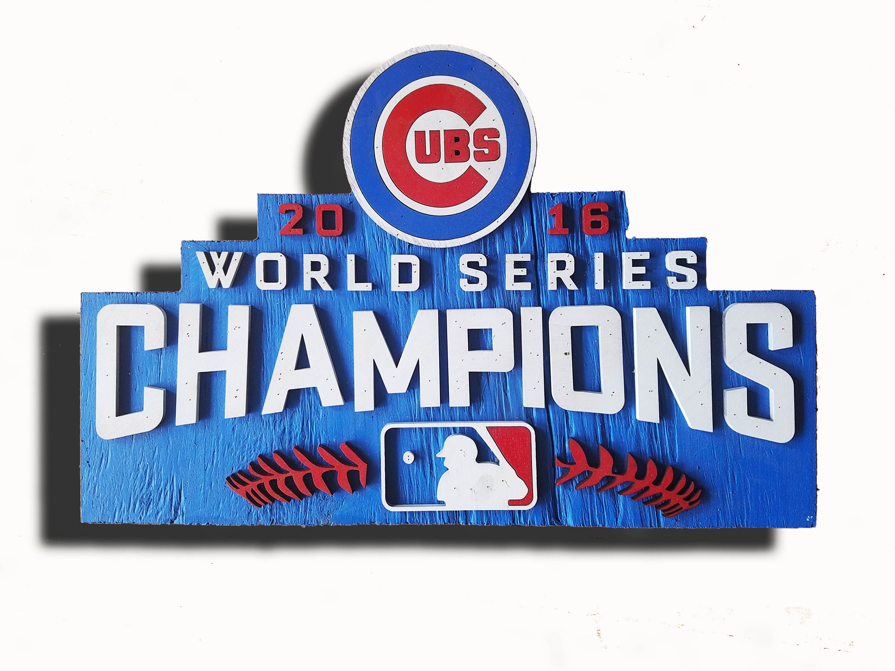 World Series Champions Chicago Cubs Handmade Distressed Wood Sign