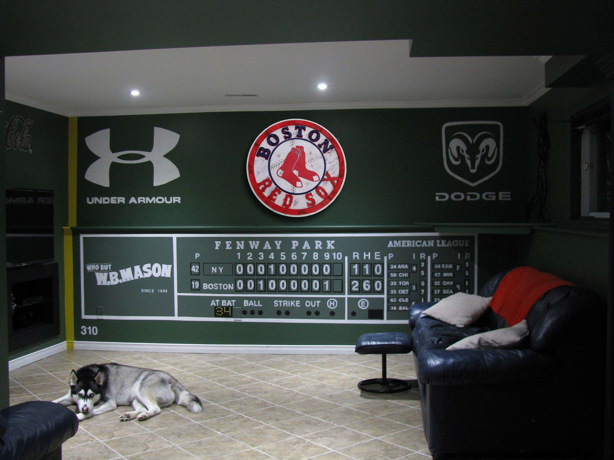 Boston Red Sox Handmade Distressed Wood
