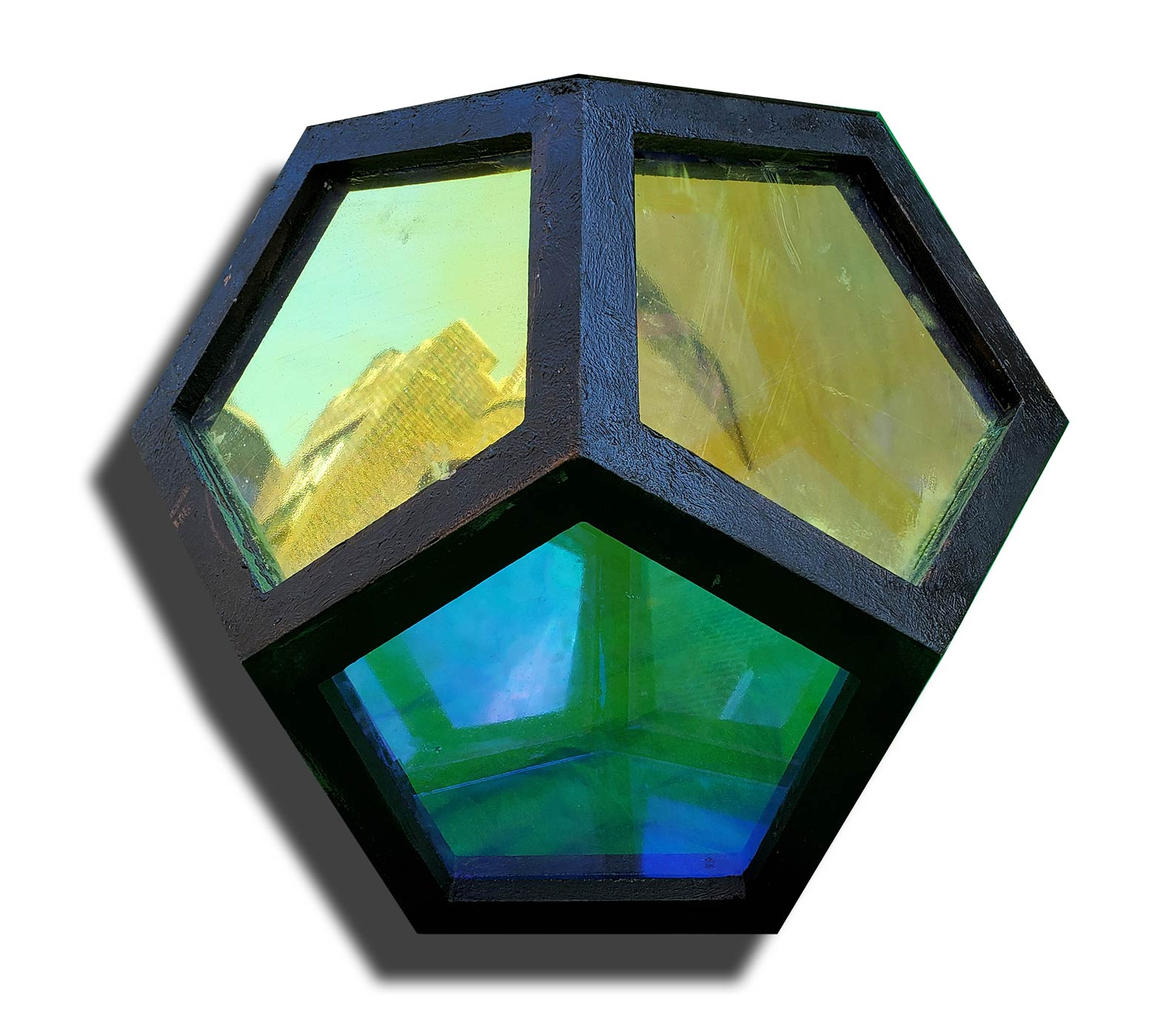 The Dodecahedron Infinity Mirror Dichroic Glass Light